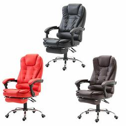HOMCOM Executive Style Reclining Office Napping Chair PU Lea