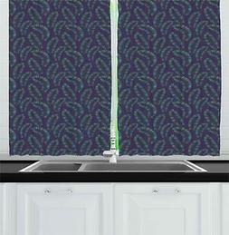 Exotic Vintage Kitchen Curtains 2 Panel Set Window Drapes 55
