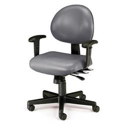 OFM 24 Hour Ergonomic Computer Vinyl Task Chair with Arms, M