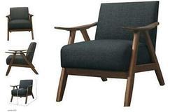 Fabric Accent Chair, Dark Gray
