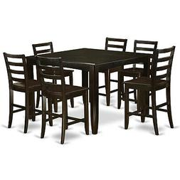 East West Furniture 7pc Fairwinds counter height set table +