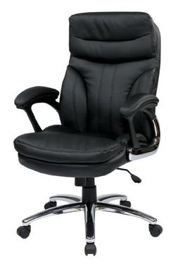 Office Star Padded Faux Leather Seat and High Back Executive
