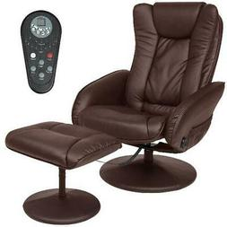 faux leather electric massage recliner chair w