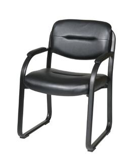 Faux Leather Visitors Chair with Sled Base