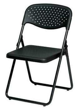 OFFICE STAR FC8000NP-3 Folding Chair,Black,PK4
