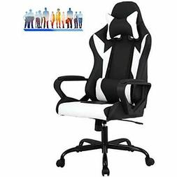 FDW Racing Office Chair, High-Back PU Leather Gaming Reclini