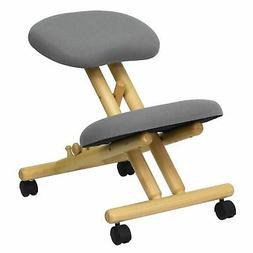 "Delacora FF-WL-SB-101  18"" Wide Wood Kneeling Chair with Pad"