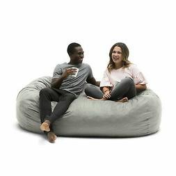 Foam Filled Bean Bag Chair Media Lounger Big Joe Cozy Place