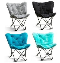 Mainstays Folding Butterfly Chair Stool, Comfortable and Sof