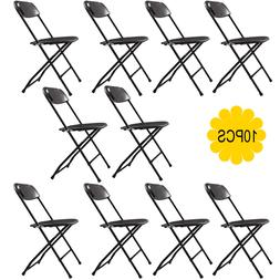 Set of 10 Commercial Plastic Folding Chairs Stackable Weddin
