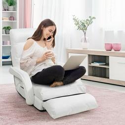 Folding Lazy Sofa Bed Floor Lounge Chair Padded Cushion Pill