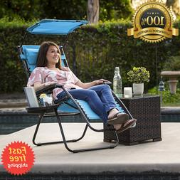folding zero gravity recliner lounge chair canopy
