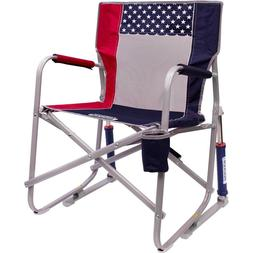 GCI Outdoor Freedom Rocker Chair USA Flag Red White and Blue
