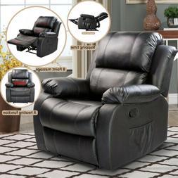 Full Body Massage Recliner Chair Leather Vibrating Heat Loun