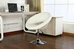 Roundhill Furniture Contemporary Chrome Adjustable Swivel Ch
