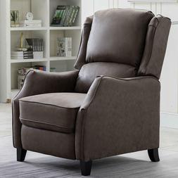 Furniture Traditional SOFA Pushback Recliner Chair Wood Leg