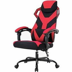 Gaming Chair Office Desk With Lumbar Support Arms Headrest E