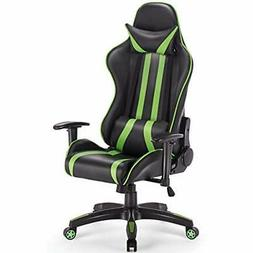 Gaming Chair Racing Reclining W/Lumbar Support And Headrest,