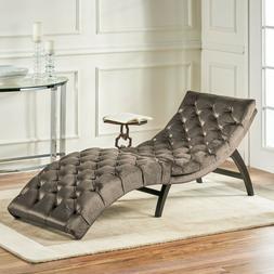 Garamond Tufted New Velvet Chaise Lounge