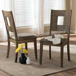 Baxton Studio Gillian Upholstered Dining Chair - Set of 2, B