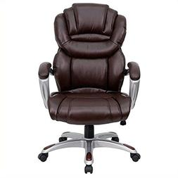 Flash Furniture GO-901-BN-GG High Back Brown Leather Executi
