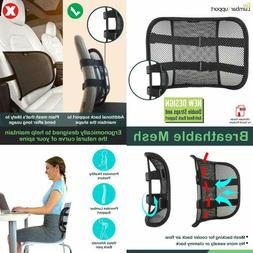 Go Lumbar Support Mesh Back Cushion for Car Seat Desk Office