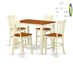 East West Furniture Gr5-Whi-W 5 Piece Counter Height Table A