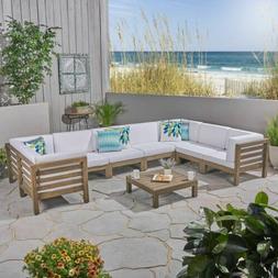 Great Deal Furniture Dawson Outdoor U-Shaped Sectional Sofa