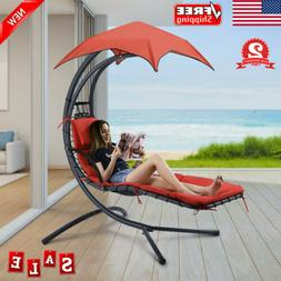 Hanging Chaise Lounge Chair Hammock Swing Seat Rest Bed Beac