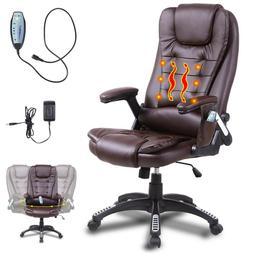 Heated Vibrating Massage Office Chair Executive Ergonomic Co