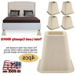 Heavy Duty Set of 4 Bed Risers or Furniture Chair Desk Table