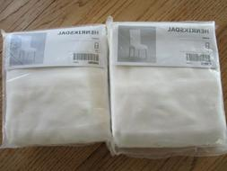 IKEA Henriksdal Removable Chair Seat Cover White/ Gobo  Set