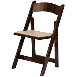 Flash Furniture HERCULES Series Fruitwood Wood Folding Chair