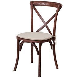 Flash Furniture HERCULES Series Stackable Mahogany Wood Cros