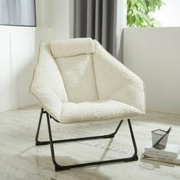 Urban Shop Hex Saucer Chair White