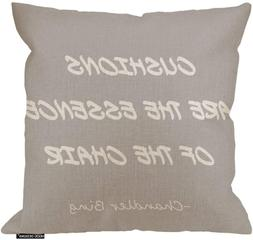 Hgod Designs Cushions Are The Essence Of The Chair Quote Pil