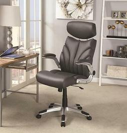 High Back Executive  Managerial Gray Office Chair with Arms