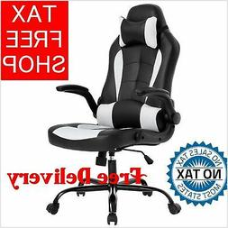 High Back Lumbar Support Computer Executive Leather Office D