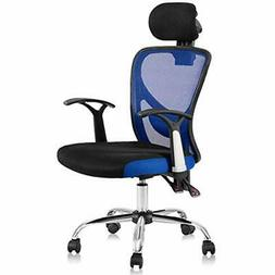 High Back Mesh Office Chair With Adjustable Headrest And Til