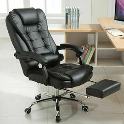 High Back Office Chair Recliner Leather Computer Desk Task C