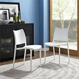 Modway Hipster Dining Side Chair in White