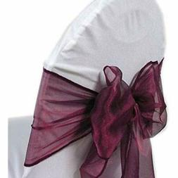 home dcor pack of 100 organza chair