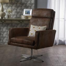 Hooper Modern Microfiber Swivel Accent Chair