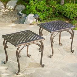 Hyde Outdoor Cast Aluminium Accent Table