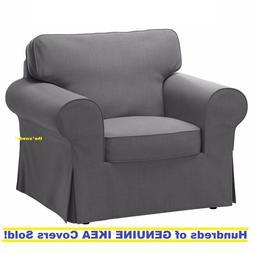 Ikea EKTORP Armchair  Slipcover Cover NORDVALLA DARK GRAY Ne
