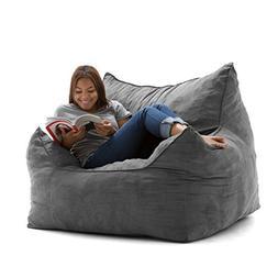 Big Joe Imperial Lounger in Comfort Suede Plus, Cement