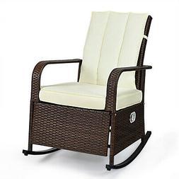 Indoor& Outdoor Reclining Chair Patio Porch Garden Lawn Wick