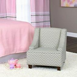 HomePop K6465-A795 Youth Upholstered Swoop Arm Accent Chair,
