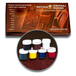 Leather Repair Kit: 7 Color, No-Heat, Fast Drying, Professio
