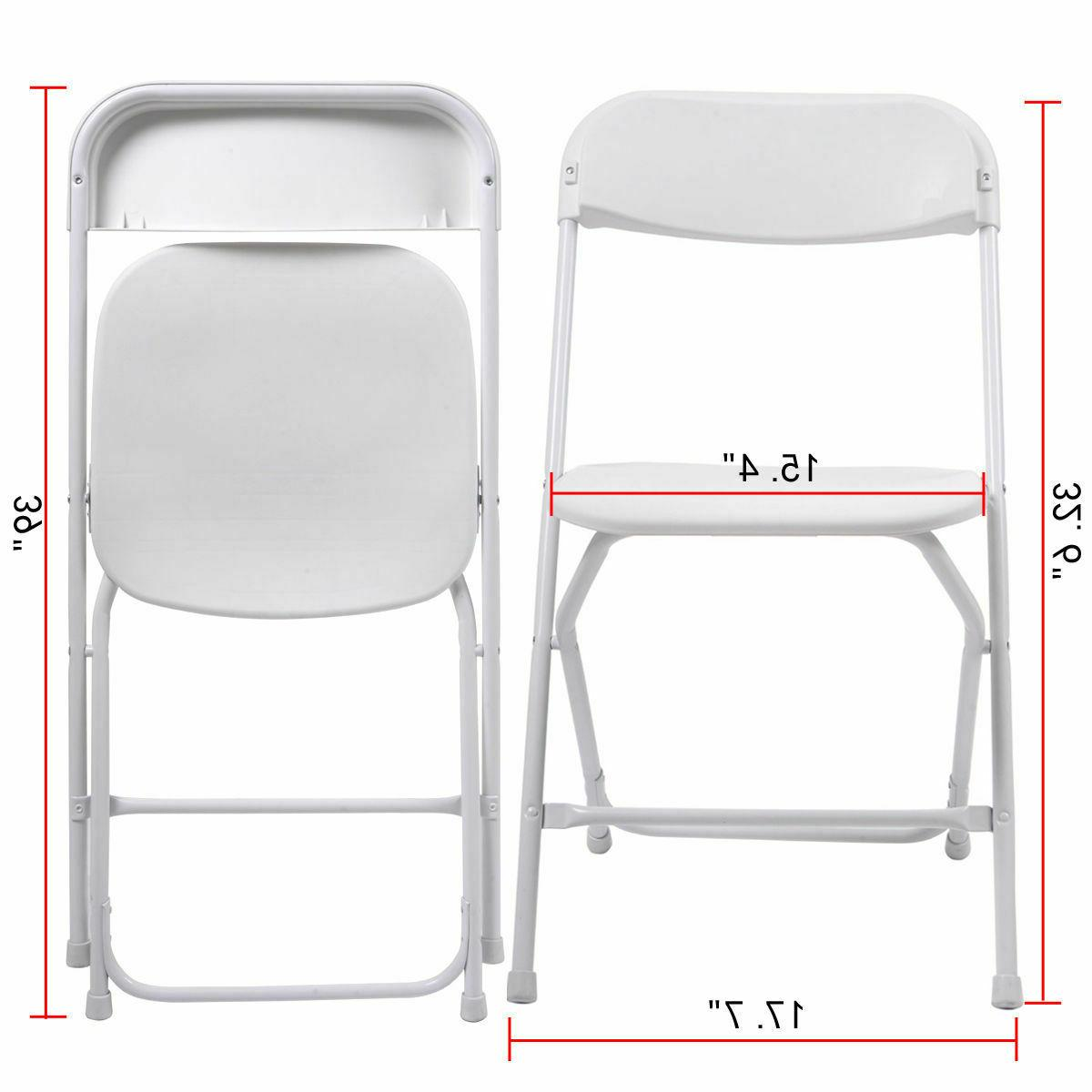 10 Quality Plastic Chairs White